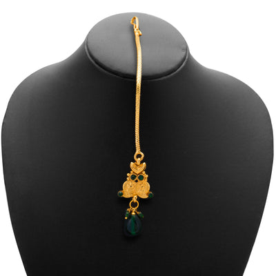 Sukkhi Fashionable Gold Plated Temple Jewellery Necklace Set for Women-3