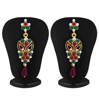 Sukkhi Sleek Gold Plated Meenakari AD Necklace Set for Women-2