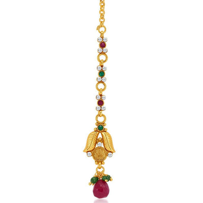 Sukkhi Marvellous Gold Plated Temple Jewellery Coin Necklace Set for Women-7