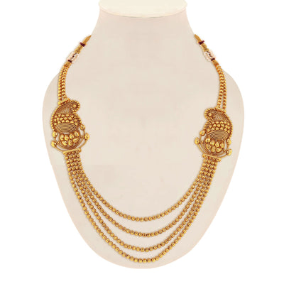 Sukkhi Incredible Gold Plated Kairi Design 4 String Necklace Set for Women-1