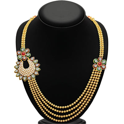 Sukkhi Bewitching Four Strings Gold Plated Necklace Set-2