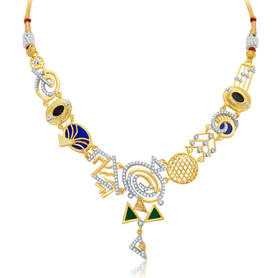 Sukkhi Resplendent Gold Plated Geometrical Shaped Necklace Set-3
