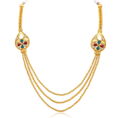 Sukkhi Exotic Three Strings Gold Plated Necklace Set-3