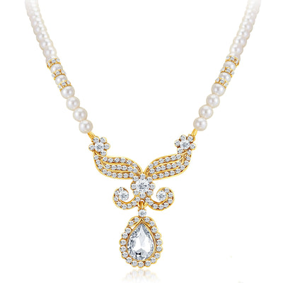 Sukkhi Artistically Gold Plated AD Necklace Set-3