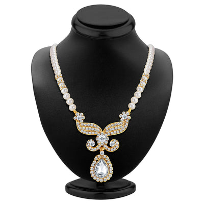 Sukkhi Artistically Gold Plated AD Necklace Set-2