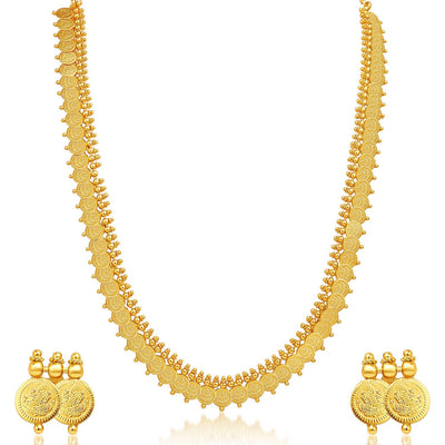 Sukkhi Royal Gold Plated Temple Jewellery Necklace Set-1