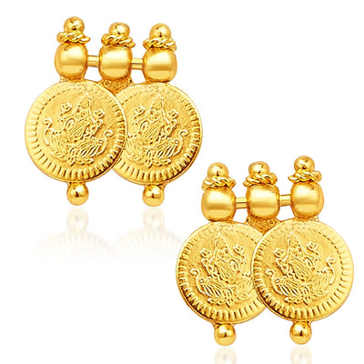 Sukkhi Royal Gold Plated Temple Jewellery Necklace Set-5