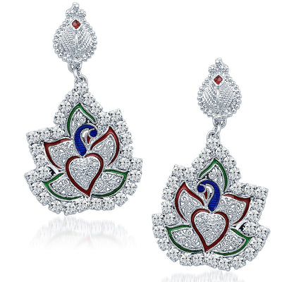 Sukkhi Fashionable Rhodium Plated AD Necklace Set-5