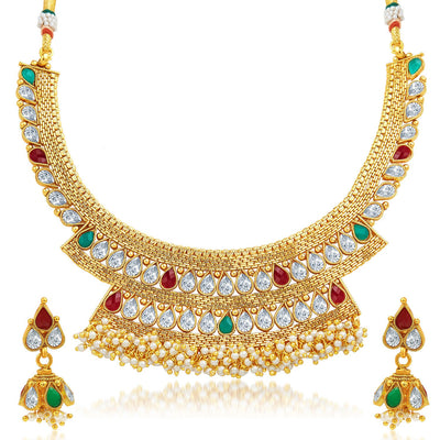 Sukkhi Enchanting Gold Plated Necklace Set-1