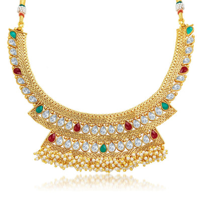 Sukkhi Enchanting Gold Plated Necklace Set-3