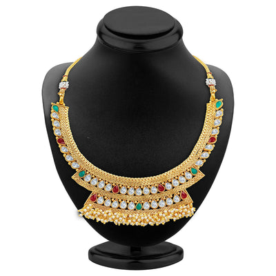 Sukkhi Enchanting Gold Plated Necklace Set-2