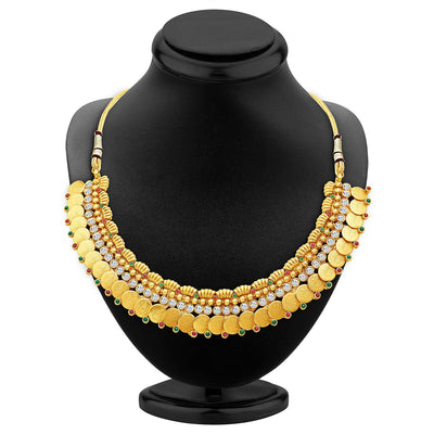 Sukkhi Pleasing Gold Plated Temple Jewellery Necklace Set-2