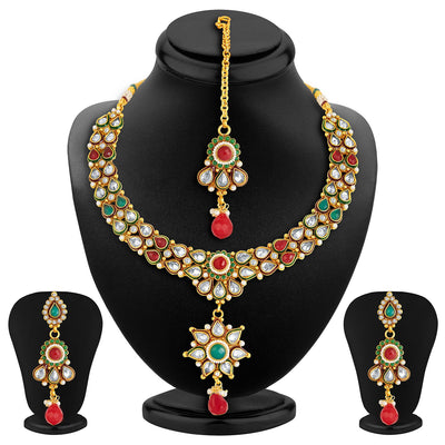 Sukkhi Antique Finish American Diamond Necklace Set-2
