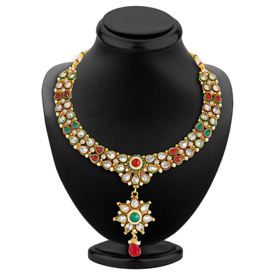 Sukkhi Antique Finish American Diamond Necklace Set-4