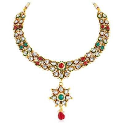 Sukkhi Antique Finish American Diamond Necklace Set-5