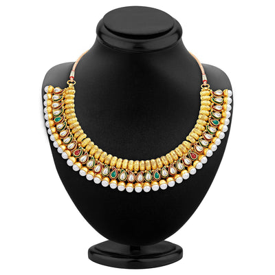 Sukkhi Charming Gold Plated Necklace Set-2