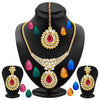 Sukkhi Pack of 15 Changeable Stone Attractive Gold Plated AD Necklace Set
