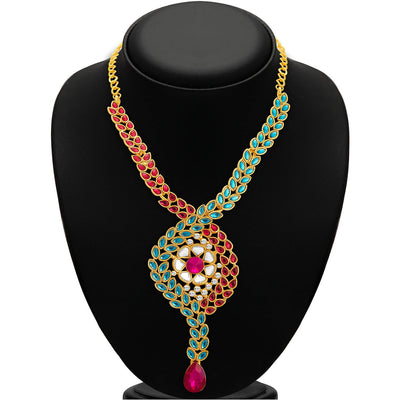 Sukkhi Charming Gold Plated AD Necklace Set For Women-2