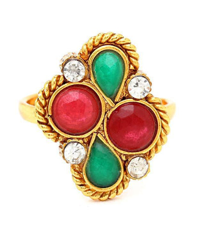 Sukkhi Creative Gold Plated Australian Diamond Stone Studded Toering-1
