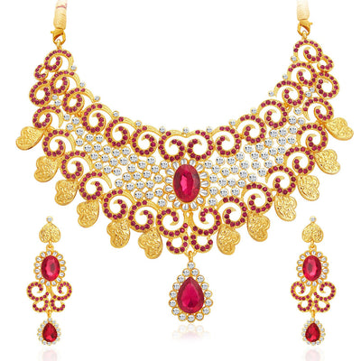 Sukkhi Elegant Gold Plated AD Necklace Set For Women-1