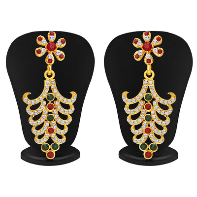 Sukkhi Resplendent Gold Plated AD Necklace Set For Women-3