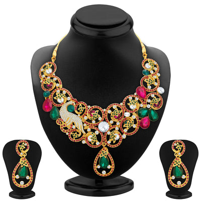 Sukkhi Trendy Gold Plated AD Necklace Set For Women