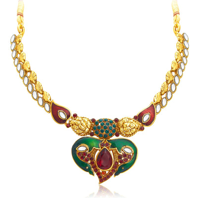 Sukkhi Attractive Gold Plated Kundan Necklace Set For Women-3