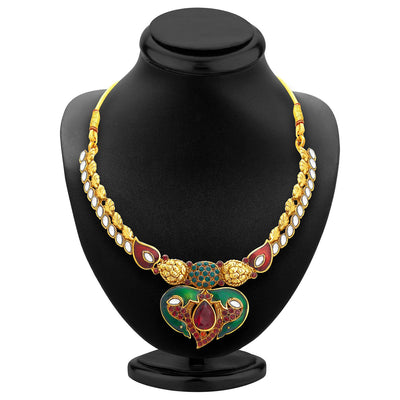 Sukkhi Attractive Gold Plated Kundan Necklace Set For Women-2