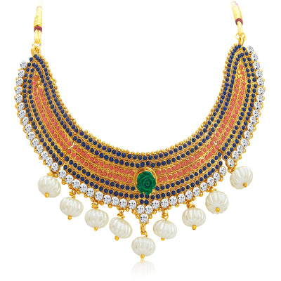 Sukkhi Classy Gold Plated Kundan Necklace Set For Women-3