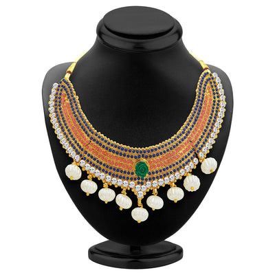 Sukkhi Classy Gold Plated Kundan Necklace Set For Women-2
