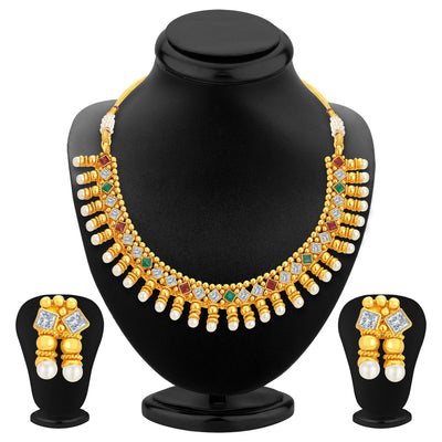 Sukkhi Astonishing Gold Plated Kundan Necklace Set For Women
