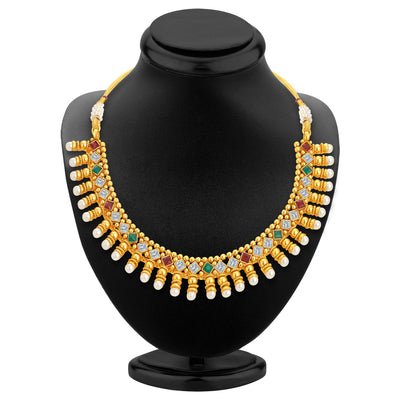 Sukkhi Astonishing Gold Plated Kundan Necklace Set For Women-2