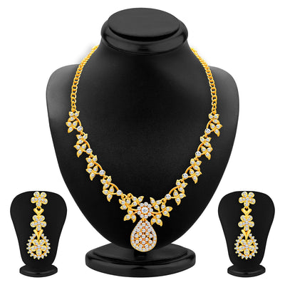 Sukkhi Intricately Gold Plated AD Set of 3 Necklace Set Combo For Women-2