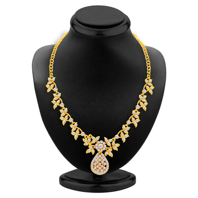 Sukkhi Alluring Gold Plated AD Necklace Set For Women-2