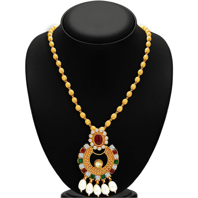 Sukkhi Modish Gold Plated Necklace Set For Women-2