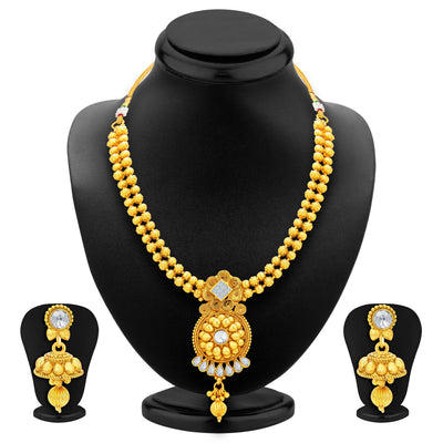Sukkhi Gleaming Gold Plated Necklace Set For Women-1
