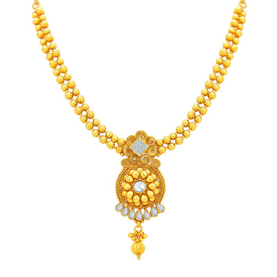 Sukkhi Gleaming Gold Plated Necklace Set For Women-2