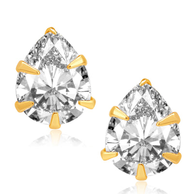 Pissara Fancy Gold Plated CZ Set of 4 Pair Earring Combo For Women-3