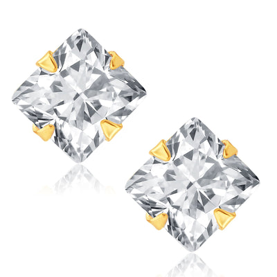 Pissara Fancy Gold Plated CZ Set of 4 Pair Earring Combo For Women-4