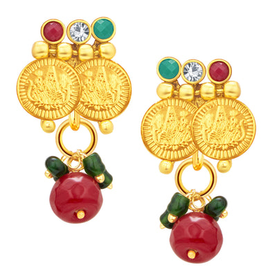 Sukkhi Blossomy Laxmi Temple Coin Gold Plated Necklace Set For Women-4