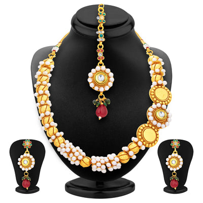 Sukkhi Designer Gold Plated Necklace Set For Women-1