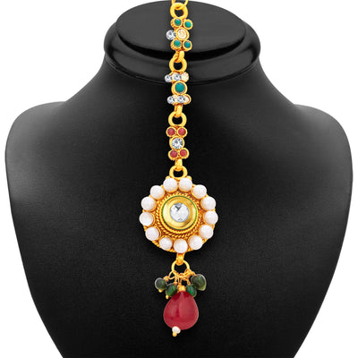 Sukkhi Designer Gold Plated Necklace Set For Women-7