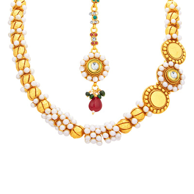 Sukkhi Designer Gold Plated Necklace Set For Women-2