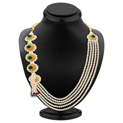 Sukkhi Attractive Five String Gold Plated Necklace Set For Women-3