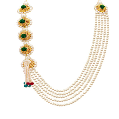 Sukkhi Attractive Five String Gold Plated Necklace Set For Women-2