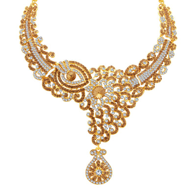 Sukkhi Glorious LCT Stone Gold Plated AD Necklace Set For Women-3