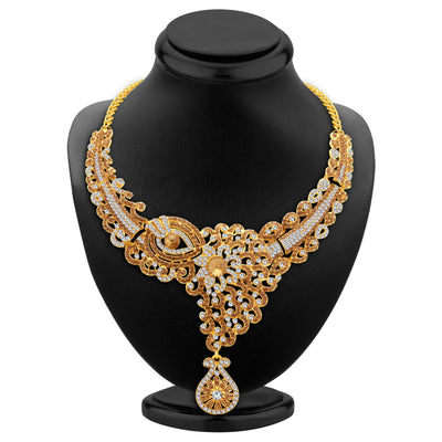 Sukkhi Glorious LCT Stone Gold Plated AD Necklace Set For Women-2