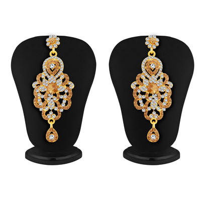 Sukkhi Glorious LCT Stone Gold Plated AD Necklace Set For Women-4