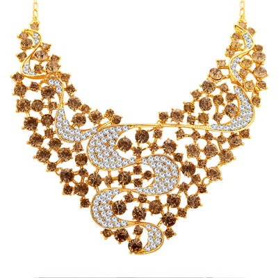 Sukkhi Splendid LCT Stone Gold Plated AD Necklace Set For Women-3