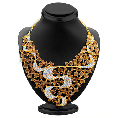 Sukkhi Splendid LCT Stone Gold Plated AD Necklace Set For Women-2